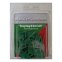 Markierfähnchen wehend  Grün