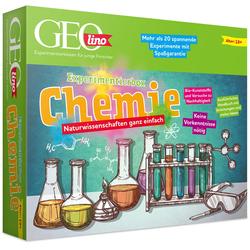 Franzis Experimentierkasten GEOlino, Experimentierbox Chemie mehrfarbig Kinder Experimentieren