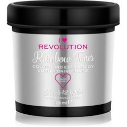 I Heart Revolution Rainbow Tones Auswaschbare Farbe für das Haar Farbton Silver Angel 120 ml
