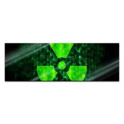 Bilderdepot24 Glasbild, Glasbild - Radioaktiv 90 cm x 30 cm