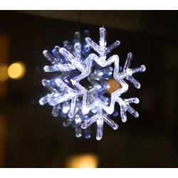 dynamic24 Fensterbild, LED Schneeflocke Fensterdeko Weihnachten Weihnachtsdeko Beleuchtung Fensterbild