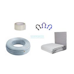 Zewotherm Fußbodenheizung Paket 50 m² Tackersystem 30-3, PE-Xc Rohr 17 x 2
