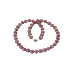 Bella Carina Perlenkette Rhodochrosit 10 mm, Rhodochrosit 10 mm 45 cm