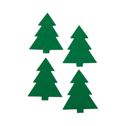 4 Filz Untersetzer Weihnachtsbäume Glasuntersetzer Weihnachtsdeko - grün