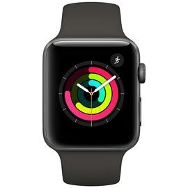 Apple Watch Series 3 (GPS + Cellular) 42mm Aluminiumgehäuse space grau mit Sportarmband schwarz