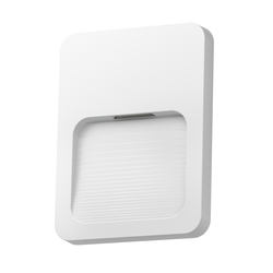 LED Treppen-Licht Wandleuchte Stufo, eckig, 12x9cm, 230V, weiß