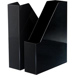 HAN Stehsammler i-Line – 2 STÜCK, eleganter, moderner High-End Stehsammler für Hefte, Zeitschriften und Mappen bis Format A4/C4, schwarz, 16501-13
