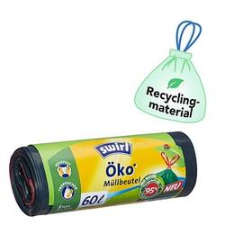 8 swirl® Zugband-Müllbeutel Öko-Müllbeutel 60,0 l