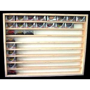 V08 Vitrine Setzkasten Holz Modellautos Hängevitrine - 72 cm breit, für Sammler von Alsino