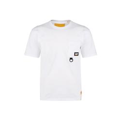 CATERPILLAR T-Shirt Caterpillar Ring Pocket weiß S