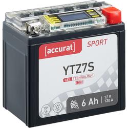 Accurat Sport GEL LCD YTZ7S Motorradbatterie 6Ah 12V