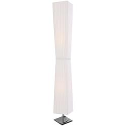 SalesFever Stehlampe Leon, Plissee Lampenschirm aus Latex