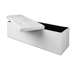 Deuba Sitztruhe, faltbar, platzsparend weiß 38 cm x 38 cm x 115 cm