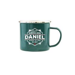 HTI-Living Becher Echter Kerl Emaille Becher Daniel