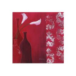 Artland Wandbild Callas in Vase, Vasen & Töpfe (1 Stück) 100 cm x 100 cm