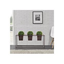 casa.pro Pflanzkübel (2 Stück), Pflanzkübel Edelrost Blumenkübel Blumentopf Indoor Pflanzen Kübel Deko 85 cm x 39 cm x 24 cm