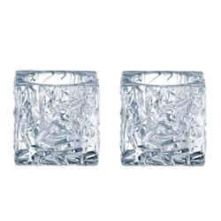 NACHTMANN  Teelichthalter ICE CUBE, 2er-Set mit Teelichtern