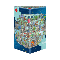 HEYE Puzzle Puzzle Spaceship, Adolfsson, 1500 Teile, Puzzleteile