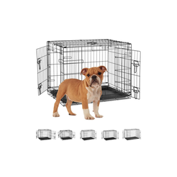 relaxdays Hundekäfig Hundekäfig für Zuhause 75 cm x 53 cm x 59.5 cm