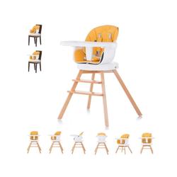 Chipolino Hochstuhl Hochstuhl 2 in 1 Rotto, Kinderstuhl, drehbarer Sitz, Höhe verstellbar gelb
