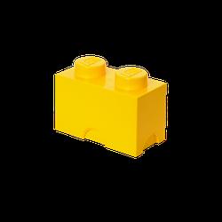 LEGO® Aufbewahrungsstein mit 2 Noppen in Gelb
