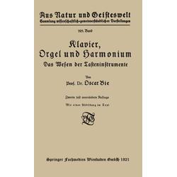 Klavier Orgel und Harmonium als Buch von Oscar Bie
