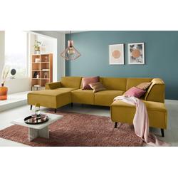 DOMO collection Wohnlandschaft, mit Federkern gelb
