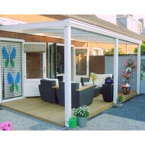Terrassendach  ALU 4 x 3m Carport Pergola Überdachung Terrassenüberdachung OPAL