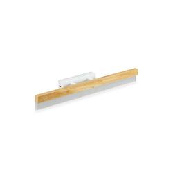 relaxdays LED Spiegelleuchte LED Spiegelleuchte Holz eckig
