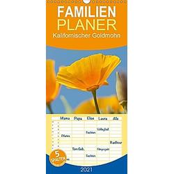 Kalifornischer Goldmohn - Familienplaner hoch (Wandkalender 2021 , 21 cm x 45 cm, hoch)