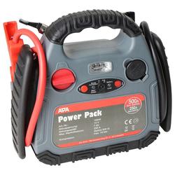 APA Starthilfegerät Power Pack, bis 500 Ampere, mit Kompressor schwarz
