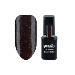 UV Shellac - Brown Glitter 12ml - Shellac Nagellack Gellack Gel Nagellack UV Lack