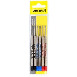 6 ONLINE® 70007 Kugelschreiberminen M farbsortiert