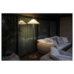 FARO Barcelona LED Außen-Stehlampe Terrassenlampe 190cm IP65 Grau, Weiß