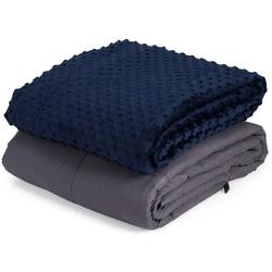 Gewichtsdecke, Gewichtete Deckemit Bezug, Baumwolle Gewichtete Decke, COSTWAY, 6,8kg