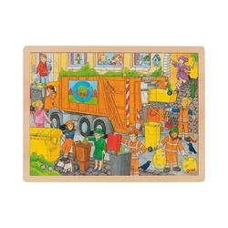 goki Puzzle Einlegepuzzle Müllabfuhr, Puzzleteile