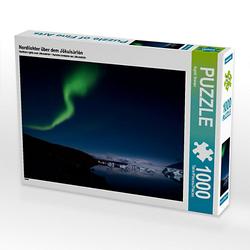Nordlichter über dem Jökulsàrlòn Lege-Größe 64 x 48 cm Foto-Puzzle Bild von Ingrid Steiner Puzzle