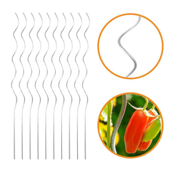 10x Tomatenspiralstab - Rankhilfe für Tomaten und andere Kletterpflanzen - Ø 6,8 mm x H: 180 cm