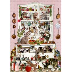 Coppenrath Verlag - Katzen im Advent Wand-Adventskalender A3-Format