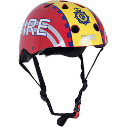 Fahrradhelm - Fire Fighter / Feuerwehrmann rot Gr. 53-58