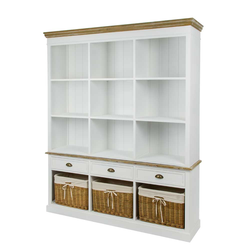 Bücherregal mit Körben Landhaus