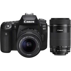 Canon EOS 90D + EF-S 18-55mm f3.5-5.6 IS STM + Canon EF-S 55-250 mm
