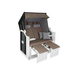 tectake Gartenstuhl Strandkorb mit Polster, verstellbar, Variante 2 bunt