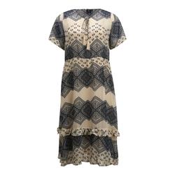 Zay Damen Kleid 'YEVLON' blau / creme, Größe XL, 4751013