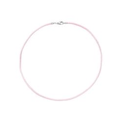 JOBO Kette ohne Anhänger, Seidenkette rosa 42 cm