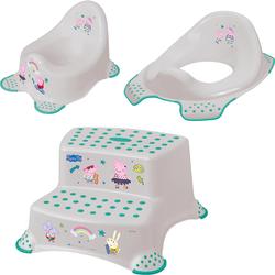 keeeper Töpfchen Peppa Pig, (Set, 3-tlg), Kinderpflege-Set - Töpfchen, Toilettensitz und Tritthocker; Made in Europe