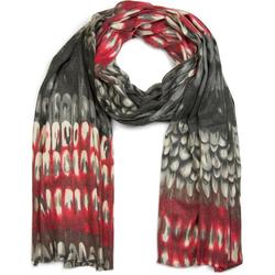 styleBREAKER Schal Schal mit Schuppen Muster Schal mit Schuppen Muster grau