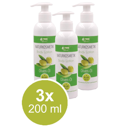 3x 200ml Oliven-Öl Body Lotion Naturkosmetik trockene Haut Pullach Hof