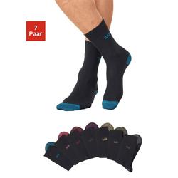 H.I.S Socken (7-Paar) mit farbiger Spitze und Ferse 39-42