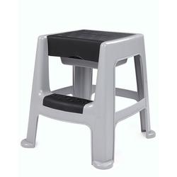 ONDIS24 Hocker Stabiler Hocker mit Trittleiter Sitzhocker mit Staufach sicherer Stand Garten-Hocker bis 150 kg Aufstiegshilfe, 150 kg